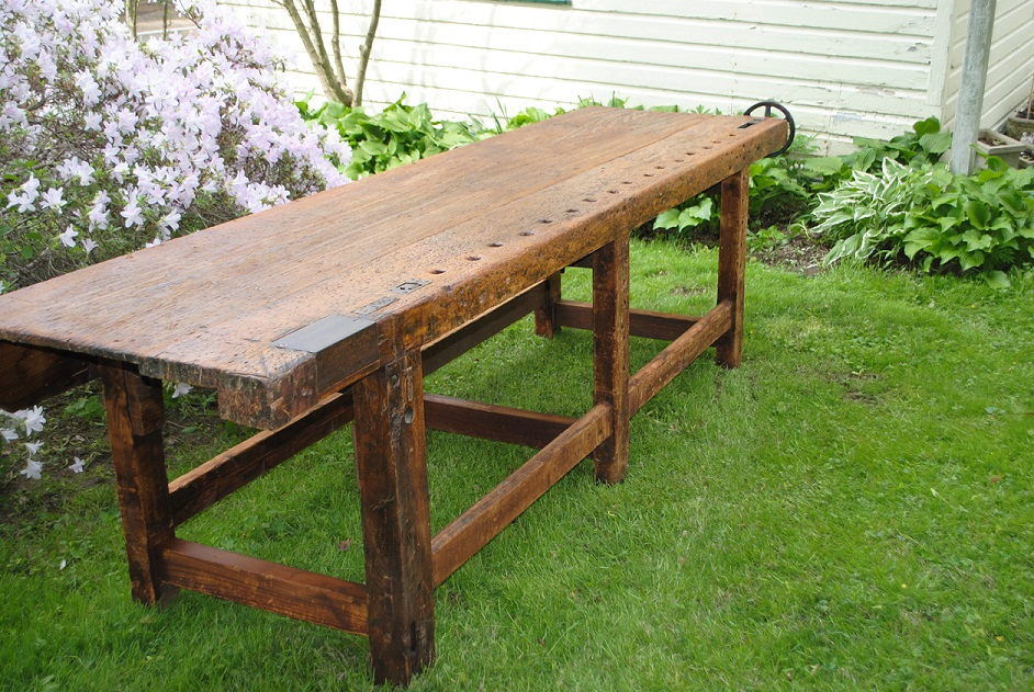 Amazing Antique Woodworking Workbench At 1stdibs