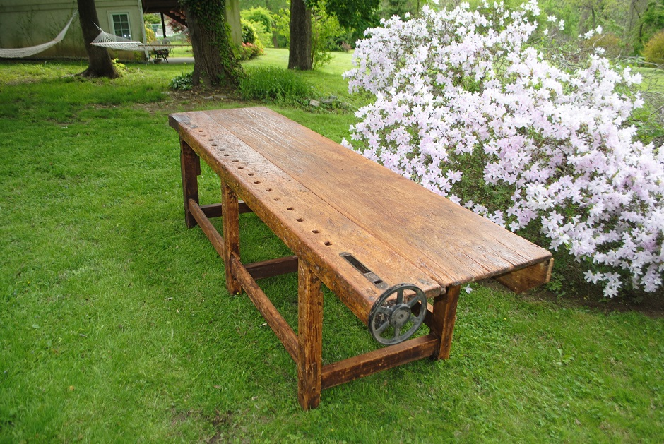19th c. Antique Woodworking Bench