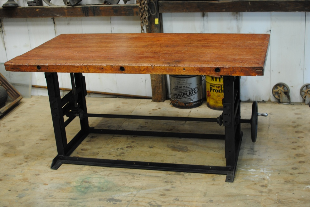 antique 1940 s crank table bar kitchen island