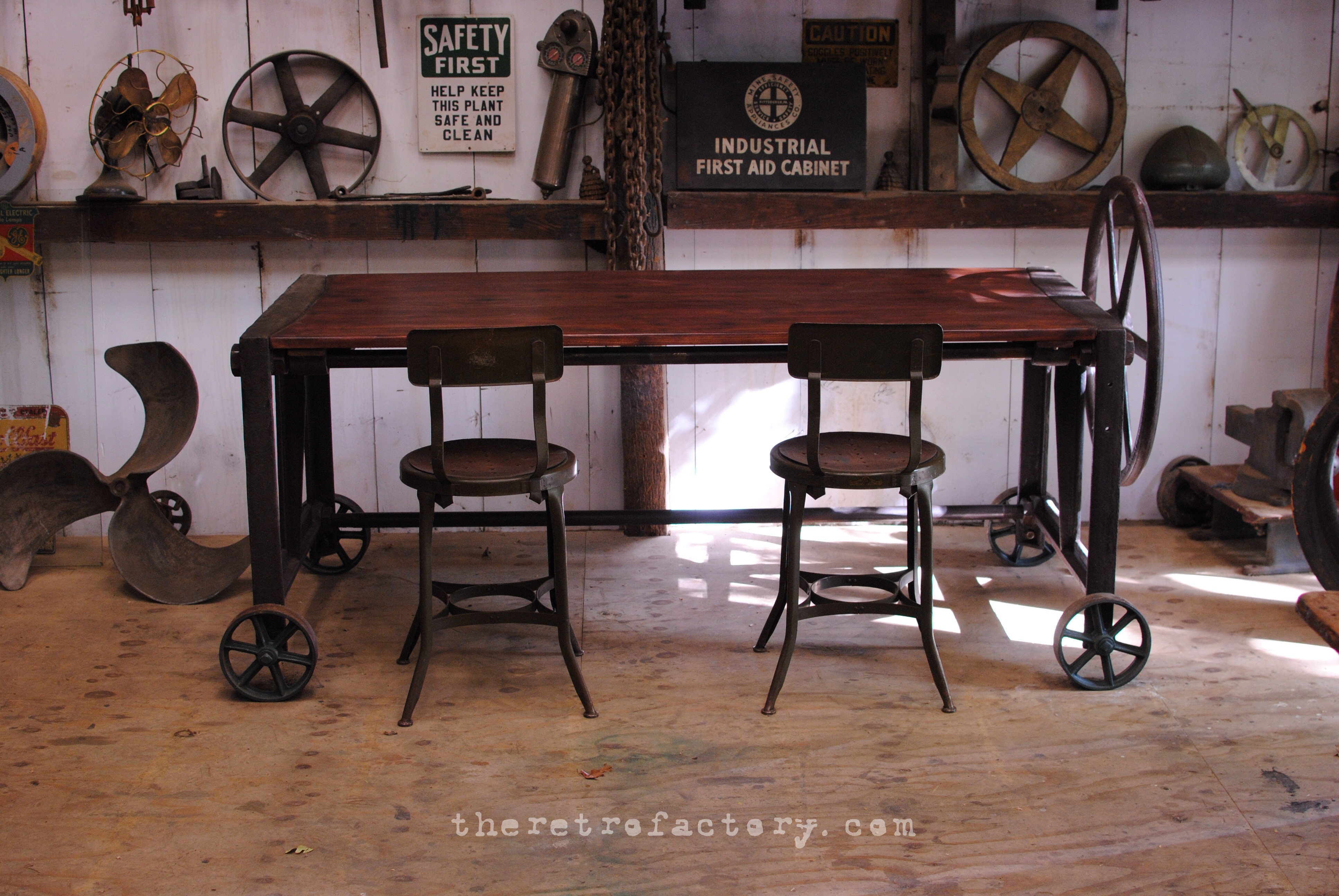 S Vintage Industrial Clamp TableDeskConference Table - Antique conference table