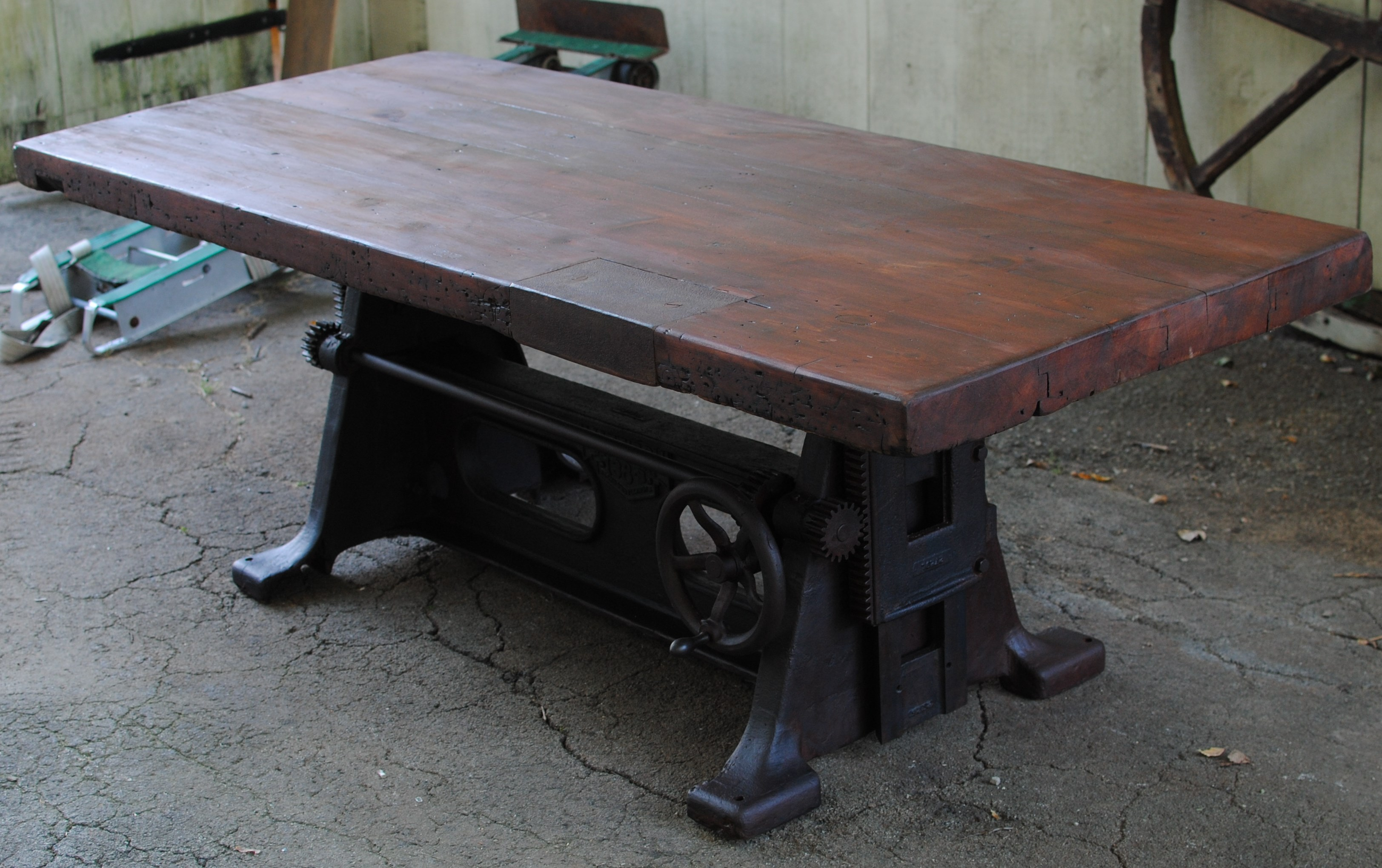 1930's antique adjustable dining room table |